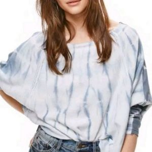 NWT Free People Dolman Sleeves Mixed Print Shirt
